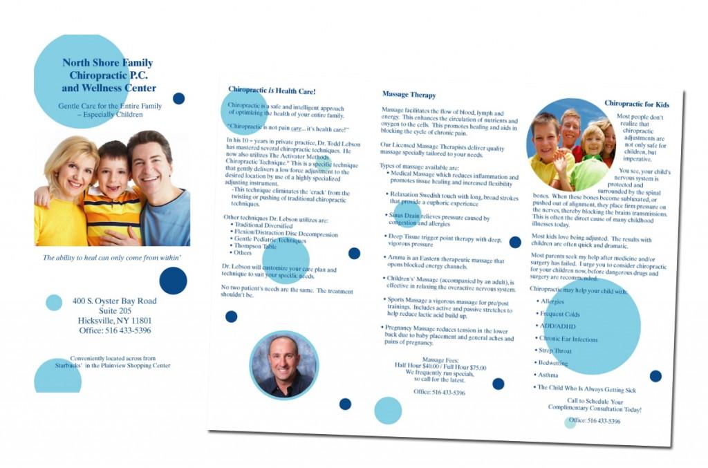 Brochure Design Chiropractor Healthcare Libraries Of Foster